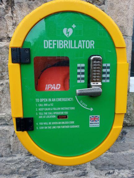 Enlarged imaged of the defibrillator